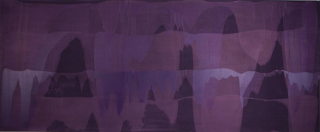 Erwin Bohatsch - o.T. (violett) - Malerei - 2003