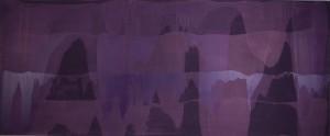 Erwin Bohatscho.T. (violett) - 2003 - ca. 364 x 134 cm - Acryl auf Leinwand
