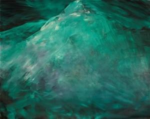 Herbert Brandl - o.T. (Bergbild smaragd) - Malerei - 2009