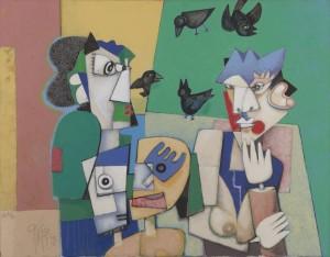 Christoph Kiefhaber - Hört auf damit - Malerei - 1998
