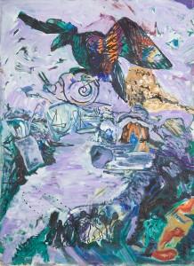 Alfred Klinkan - Der Adler und die Schnecke - Malerei - 1986