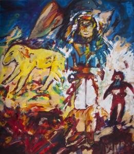 Alfred Klinkan - Vier Richtungen - Berggeist - Malerei - 1986