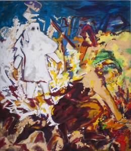 Alfred Klinkan - Vier Richtungen - Schaf - Malerei - 1986