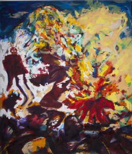 Alfred Klinkan - Vier Richtungen - Weißer Geist - Malerei - 1986