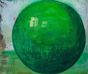 Alois Mosbacher - Grüne Kugel - Malerei - 1999