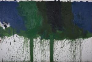 Hermann Nitsch - Das grüne Triptychon - Serie VII (01) - Malerei - 1992