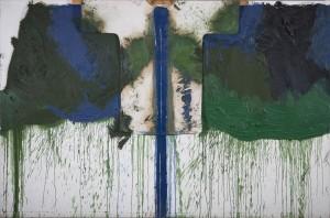 Hermann Nitsch - Das grüne Triptychon - Serie VII (02) - Mischtechnik - 1992