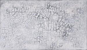 Michael Pisk - o.T. (weiß/grau) Zyklus Spur I - Mischtechnik - 1996