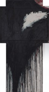 Arnulf RainerKreuz - 1988 - 80 x 155 cm - Öl auf Holz