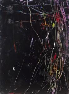 Hubert Scheibl - Ginger M (schwarz) - Malerei - 2007