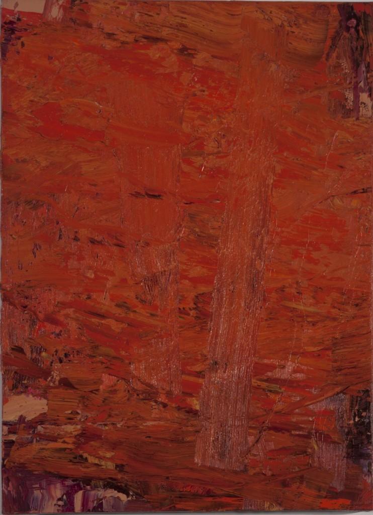 Hubert Scheibl - o.T. (Rot Cubus Kombination) - Malerei - 1993