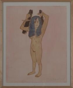Hubert Schmalix - Nude (09) - Malerei - 2005