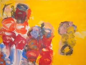 Josef Mikl - Familienausflug mit Fetzenpuppe - Malerei - 2006