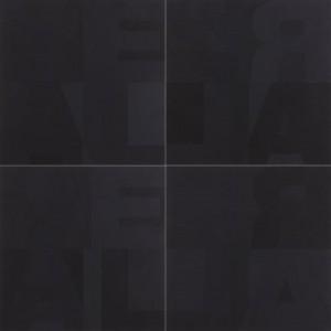 Heimo Zobernig - Bild Schwarz vierteilig - Malerei - 2004