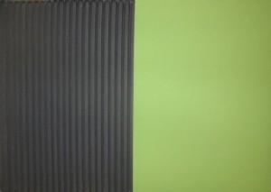 Jakob Gasteiger - Farbtafel schwarz/grün - Malerei - 2008