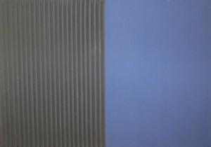 Jakob Gasteiger - Farbtafel schwarz/blau - Malerei - 2008