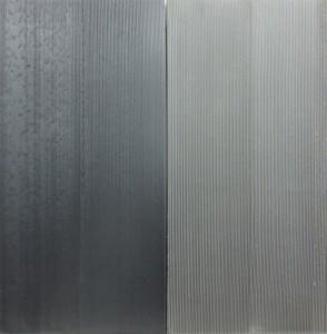 Jakob Gasteiger - Farbtafel zweiteilig schwarz/grau - Malerei - 2011