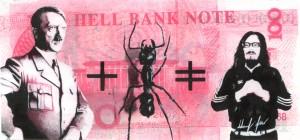 Manuel GrasGeldgaumenfreuden 9 - 2011 - 18 x 24 cm - Acryl auf Geldschein, gerahmt